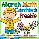 Math Centers (March) Freebie
