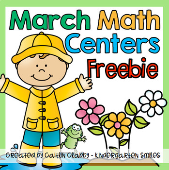 Math Centers (March) Freebie