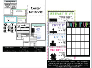 Math Centers: Materials and Organization for the Entire Year!
