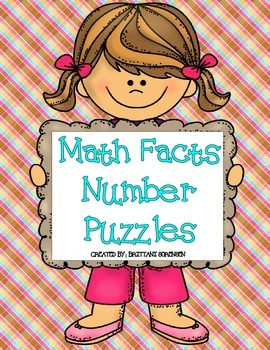 Math Centers: Math Facts Puzzles 1-10