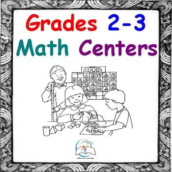 Math Centers - Math Games - Grades 2-3