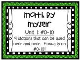 Math Centers - Math by Myself - Unit 1: #0-10