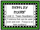 Math Centers - Math by Myself - Unit 2: Teen Numbers
