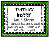 Math Centers - Math by Myself - Unit 3: Shapes