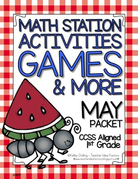 Math Centers - May (Common Core - 1st Grade)