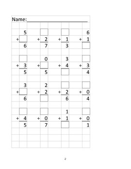 Math Centers Missing Numbers Worksheet (file 9 of 9)