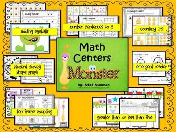 Math Centers {Monster Math} Common Core