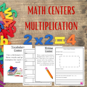 Math Centers Multiplication - CCSS