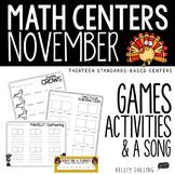 Math Centers - November (Common Core - 1st Grade)