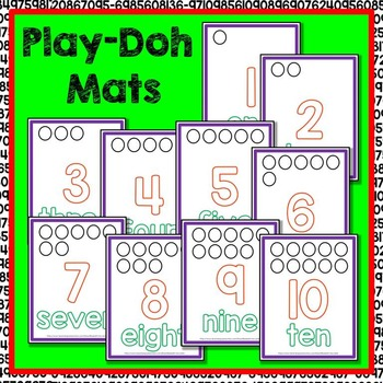 Number Play-Doh Mats 1-10 Math Center
