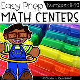 Math Centers {Number Sense 11-20}