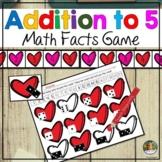 Math Centers Number Sense Addition to 5 Math Valentine Hea