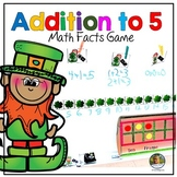 Math Centers Number Sense Addition to 5 Math St. Patrick's Day