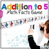 Math Centers Number Sense Addition to 5 Math Winter Game