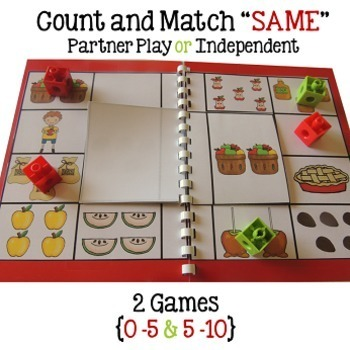 Math Centers Numbers 0-10 {6 Apple Math Games}
