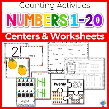 graphic about Numbers 1 20 Printable named Quantities 1-20 Math Facilities, Game titles, and Printables