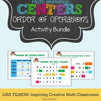 Order of Operations Math Centers Activity Bundle
