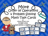 Math Centers Order of Operations Activity with Problem Solving Task Cards