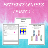 Math Centers Patterns