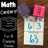 Math Centers - Place Value, Addition, & Subtraction