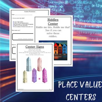Math Centers Place Value - CCSS