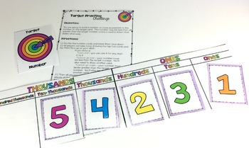 Math Centers (Place Value Practice Game)