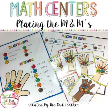 Math Centers (Place value and Multiplying by 10 Game)