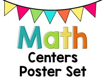 Math Centers Chart - Editable Labels