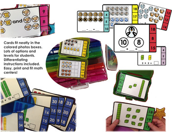 Math Centers Print and Pack ~ Number Sense Practice All Year - Just Add Clips!