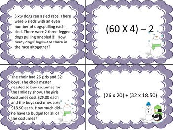 Math Centers Problem-Solving Activities with Order of Operations