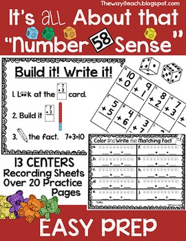 Math Centers {Sums of 10, Counting by 10's, Number Sequenc