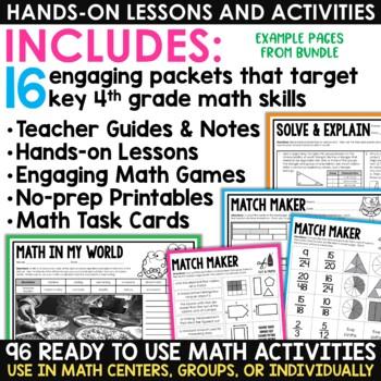Math Centers & Review | Math Test Prep Task Cards | Mega Bundle