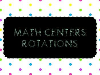 Math Centers Rotation Board