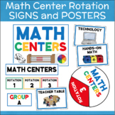Math Centers Rotation Cards and Signs