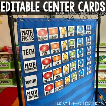 Math Centers Rotation Chart (Editable)