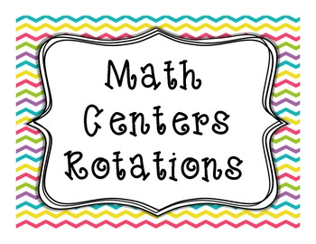 Math Centers Rotations FREEBIE