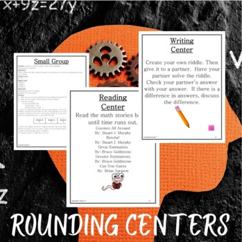 Math Centers Rounding - CCSS