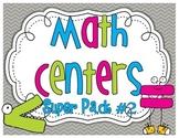 Math Centers SUPER PACK #2 {10 activities}