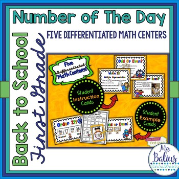 Back to School Second Grade Math Centers Differentiated Number of the Day