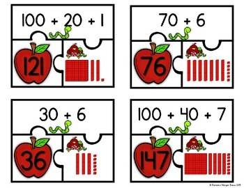 Second Grade Differentiated Math Centers FREEBIE PREVIEW Number of the Day