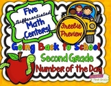 Second Grade Differentiated Math Centers FREEBIE PREVIEW N