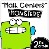 Math Centers Second Grade - Monsters