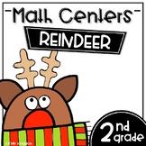 Math Centers Second Grade - Reindeer
