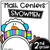 Math Centers Second Grade - Snowmen