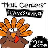 Math Centers Second Grade - Thanksgiving