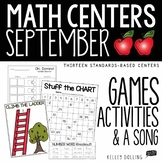 September Math Centers - 1st Grade