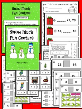 Math Centers - Snow Much Fun Centers