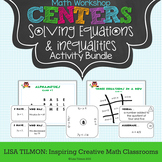 Solving Equations and Inequalities Math Centers Activity Pack