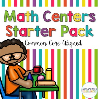Math Centers Starter Pack {Common Core Aligned}