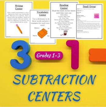 Math Centers Subtraction - CCSS